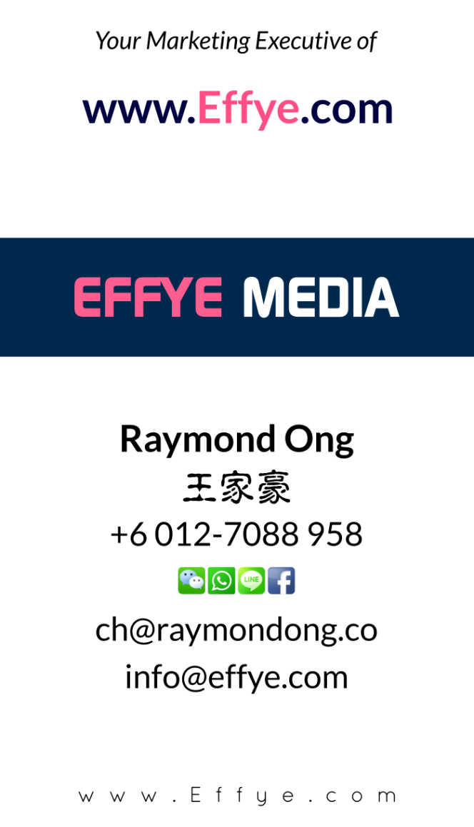 Raymond Ong Effye Media Selangor Website Design Online Media Advertising Web Development Education Webpage Facebook eCommerce Management Photo Shooting Malaysia NC03