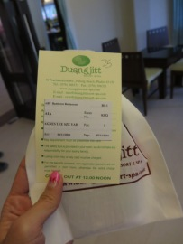 Check in Accommodation - at【Duangjitt Resort & Spa】
