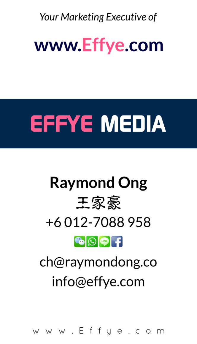 Raymond Ong Effye Media Perak Website Design Online Media Advertising Web Development Education Webpage Facebook eCommerce Management Photo Shooting Malaysia NC03