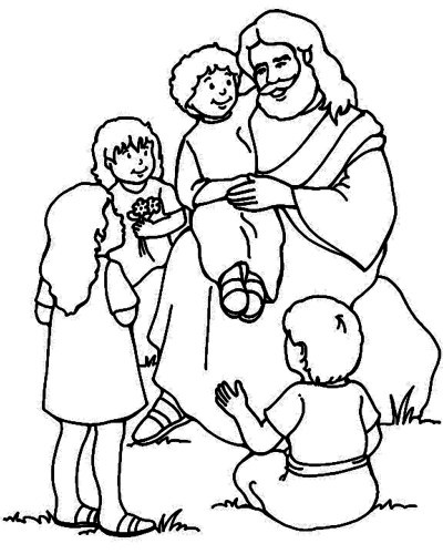 Jesus Christ Coloring Images Sunday School Images for You to Fill with Colour A02