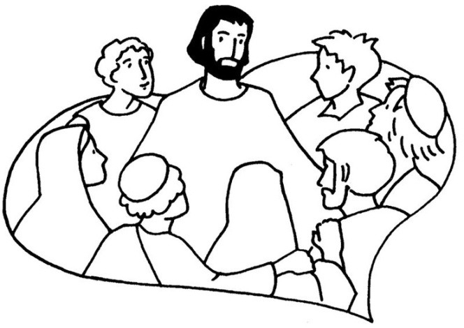 Jesus Christ Coloring Images Sunday School Images for You to Fill with Colour A04