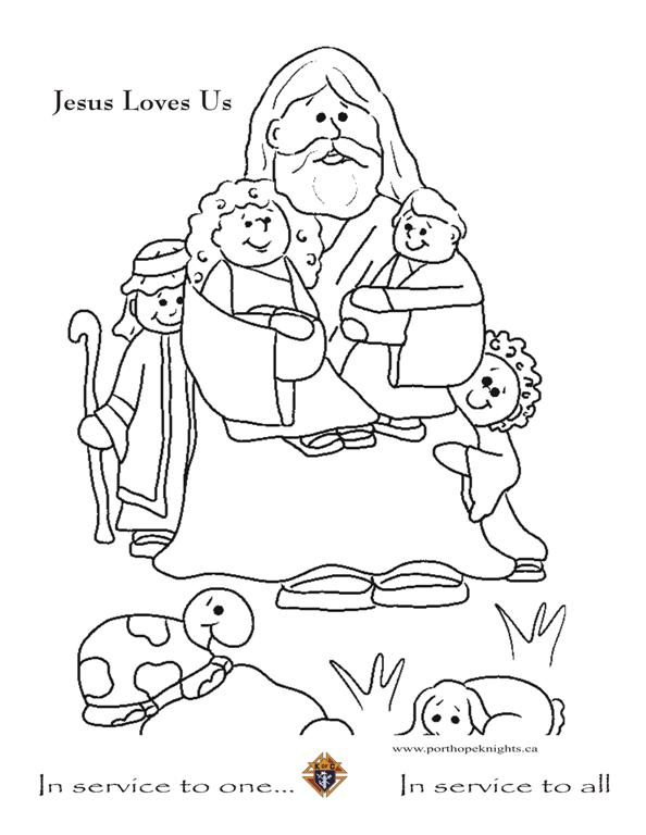 Jesus Christ Coloring Images Sunday School Images for You to Fill with Colour A23