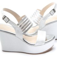 Modern Fashion Office Wedges Shoes - SHM1732023 Silver Colour