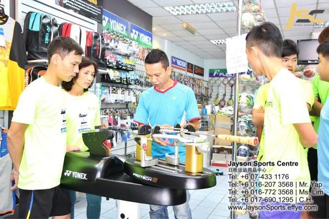 Yonex Protech8 Electric Badminton and tennis Stringing Machines Batu Pahat Jayson Sports Centre Pusat Sukan Batu Pahat 日胜运动用品中心 Batu Pahat Johor Malaysia CA14