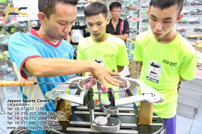 Yonex Protech8 Electric Badminton and tennis Stringing Machines Batu Pahat Jayson Sports Centre Pusat Sukan Batu Pahat 日胜运动用品中心 Batu Pahat Johor Malaysia CA15