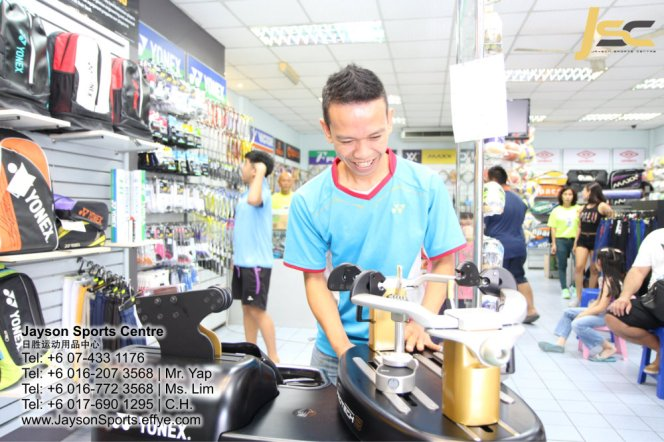 Yonex Protech8 Electric Badminton and tennis Stringing Machines Batu Pahat Jayson Sports Centre Pusat Sukan Batu Pahat 日胜运动用品中心 Batu Pahat Johor Malaysia CA04
