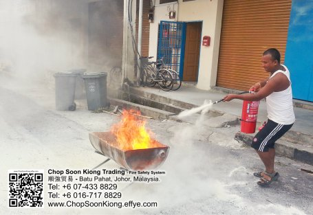 Malaysia Johor Batu Pahat Fire Extinguisher Prevention Equipment Chop Soon Kiong Trading 顺強贸易 Safety Somke Alarm Fire Prevention Protection Fire Hose Reel Bomba 灭火器 C07