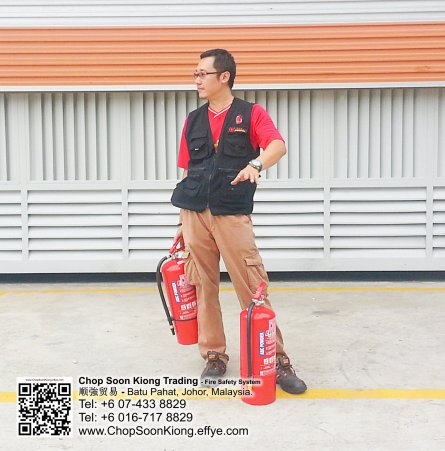 Malaysia Johor Batu Pahat Fire Extinguisher Prevention Equipment Chop Soon Kiong Trading 顺強贸易 Safety Somke Alarm Fire Prevention Protection Fire Hose Reel Bomba 灭火器-B09