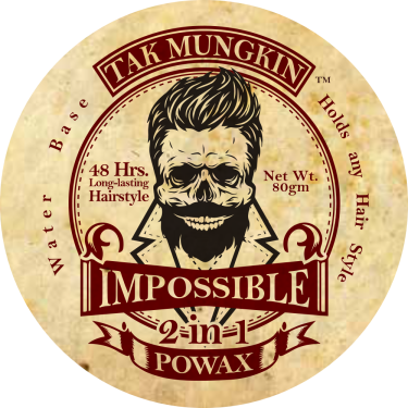 Tak Mungkin PoWax Malaysia Impossible PoWax Malaysia Logo - 48 hours long-lasting hairstyle products A01