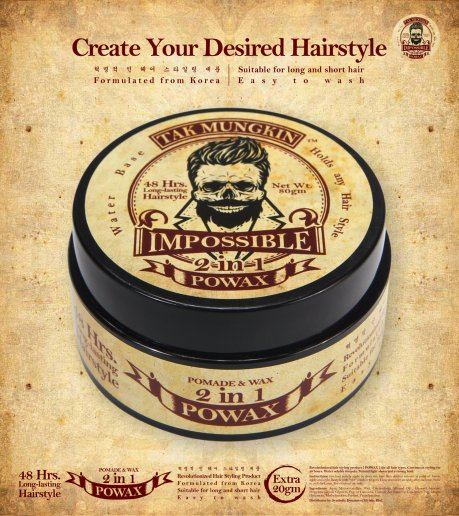 Tak Mungkin PoWax Malaysia Impossible PoWax Malaysia Poster - 48 hours long-lasting hairstyle products JPG A05