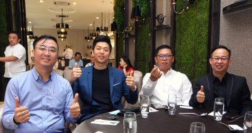 Malaysia Jahor Johor Bahru PIF 汇徳金融 新加坡金融团队 CEO私人午宴 Alfred Law Alfred Genesis Fork and Spoon Western Food Fine Dining B14