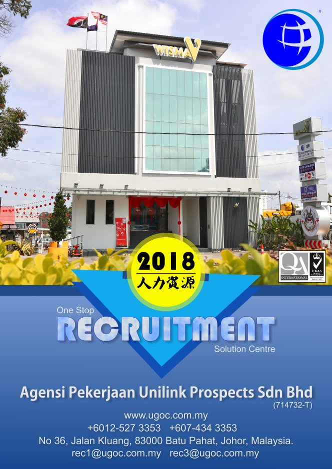 Agensi Pekerjaan Unilink Prospects Sdn Bhd Wisma V Malaysia Job Vacancy Manpower One Stap Recruitment Solution Centre Human Resources Local Placement Help in Company Development B01