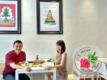 Malaysia Johor Batu Pahat Vegetarian Food Restaurant and Cafe Delicious Food and Beverages 马来西亚 柔佛 峇株巴辖 素食餐厅 和 咖啡厅 美食 我肚子饿了 B46