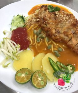 Malaysia Johor Batu Pahat Vegetarian Food Restaurant and Cafe Delicious Food and Beverages 马来西亚 柔佛 峇株巴辖 素食餐厅 和 咖啡厅 美食 我肚子饿了 A19
