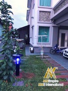 pembunuh nyamuk berkuasa solar untuk luar dan dalam rumah pemasangan percuma alat bunuh nyamuk elektrik 21