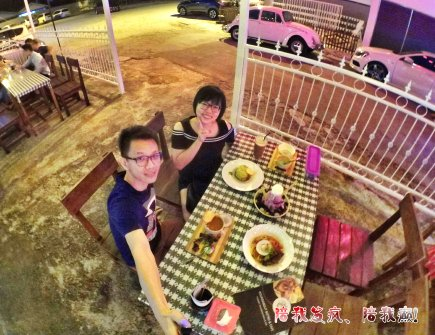 Raymond Ong Effye Ang work together Fighting for Future Crazy Life 陪我发疯 陪我癫 Valentines Day at Roundabout Cafe N Bistro Batu Pahat Johor A15