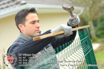 BP Wijaya Trading Sdn Bhd Malaysia Selangor Kuala Lumpur manufacturer of safety fences building materials for housing construction site Security fencing factory security home security A02-11