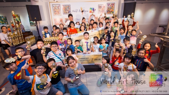 马来西亚 哥打白沙罗 八打灵再也 吉隆坡 雪兰莪 金犬报喜迎旺年 创意填色比赛 World Art House 世界艺术画室 及 1 Utama Shopping 金爺爺 JinYeYe Effye Media A0-1