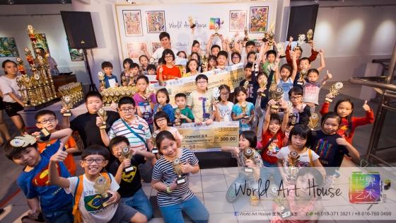 Malaysia Kota Damansara Petaling Jaya Kuala Lumpur Selangor Chinese New Year Charity Coloring Contest World Art House 世界艺术画室 and 1 Utama Shopping 金爺爺 JinYeYe Effye Media A0-1