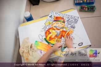 Malaysia Kota Damansara Petaling Jaya Kuala Lumpur Selangor Chinese New Year Charity Coloring Contest World Art House 世界艺术画室 and 1 Utama Shopping JinYeYe Effye Media B002