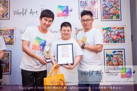 Malaysia Kota Damansara Petaling Jaya Kuala Lumpur Selangor Chinese New Year Charity Coloring Contest World Art House 世界艺术画室 and 1 Utama Shopping JinYeYe Effye Media B031