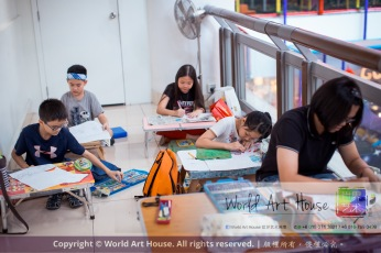 Malaysia Kota Damansara Petaling Jaya Kuala Lumpur Selangor Chinese New Year Charity Coloring Contest World Art House 世界艺术画室 and 1 Utama Shopping JinYeYe Effye Media C058