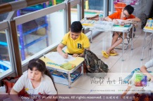 Malaysia Kota Damansara Petaling Jaya Kuala Lumpur Selangor Chinese New Year Charity Coloring Contest World Art House 世界艺术画室 and 1 Utama Shopping JinYeYe Effye Media C064