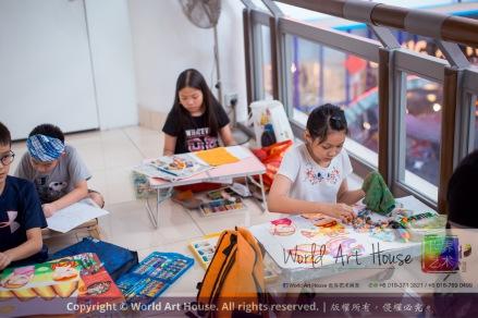 Malaysia Kota Damansara Petaling Jaya Kuala Lumpur Selangor Chinese New Year Charity Coloring Contest World Art House 世界艺术画室 and 1 Utama Shopping JinYeYe Effye Media C083