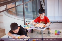 Malaysia Kota Damansara Petaling Jaya Kuala Lumpur Selangor Chinese New Year Charity Coloring Contest World Art House 世界艺术画室 and 1 Utama Shopping JinYeYe Effye Media A041