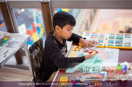 Malaysia Kota Damansara Petaling Jaya Kuala Lumpur Selangor Chinese New Year Charity Coloring Contest World Art House 世界艺术画室 and 1 Utama Shopping JinYeYe Effye Media A095