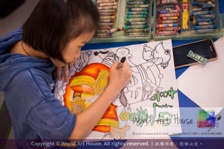 Malaysia Kota Damansara Petaling Jaya Kuala Lumpur Selangor World Art House 世界艺术画室 Charity Coloring Contest Effye Media A009