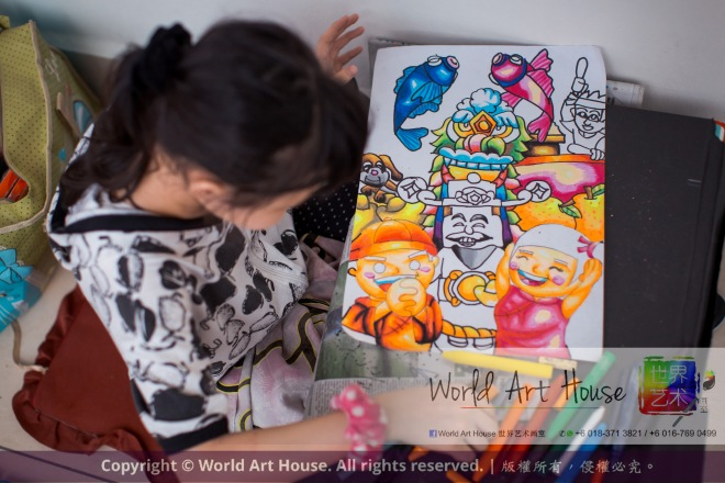Malaysia Kota Damansara Petaling Jaya Kuala Lumpur Selangor World Art House 世界艺术画室 Charity Coloring Contest Effye Media A015