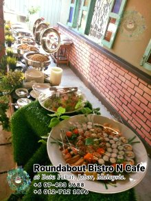 Buffet Batu Pahat Roundabout Bistro N Cafe Malaysia Johor Batu Pahat Totoro Cafe Historical Building Cafe Batu Pahat Landmark Birthday Party Wedding Function Event Kopitiam PC01-10