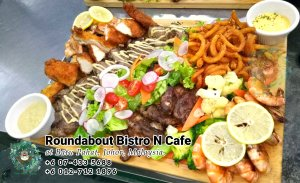 Buffet Batu Pahat Roundabout Bistro N Cafe Malaysia Johor Batu Pahat Totoro Cafe Historical Building Cafe Batu Pahat Landmark Birthday Party Wedding Function Event Kopitiam PC01-45