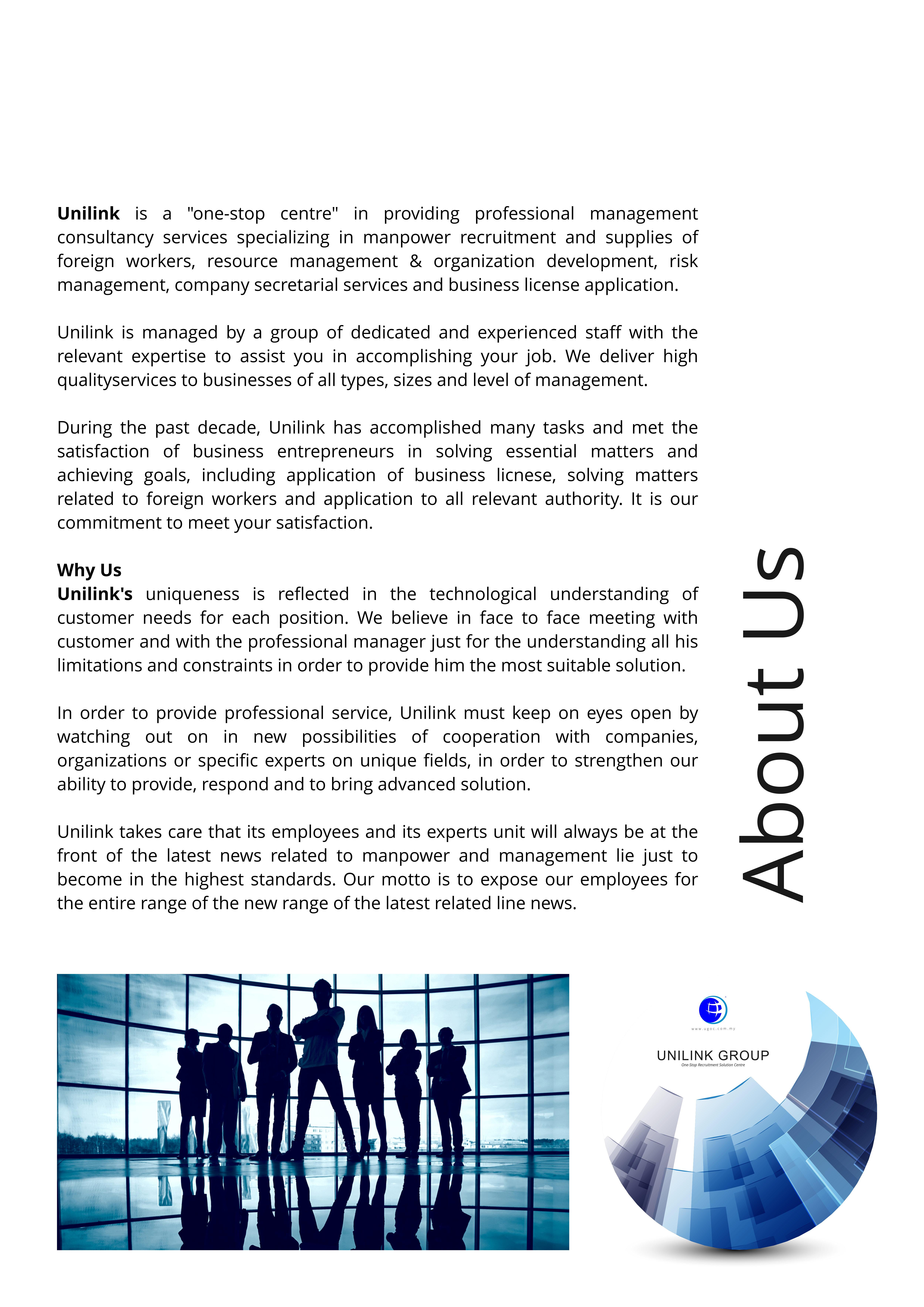 Company Profile of Agensi Pekerjaan Unilink Prospects Sdn Bhd