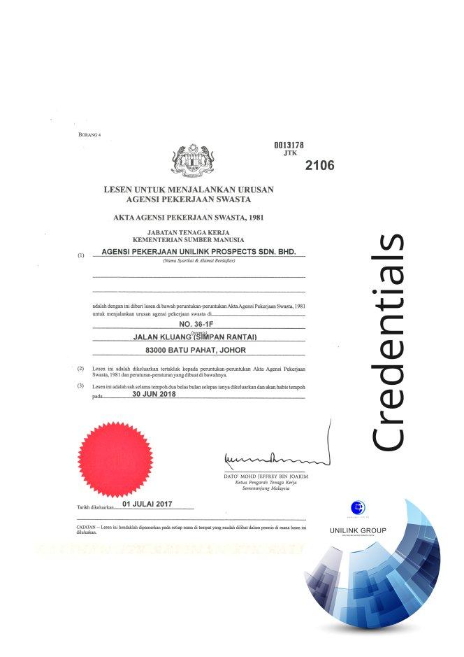 Company Profile of Agensi Pekerjaan Unilink Prospects Sdn Bhd Director Datin Sri Fun See Hoon Datin Sri Ivy Malaysia A14
