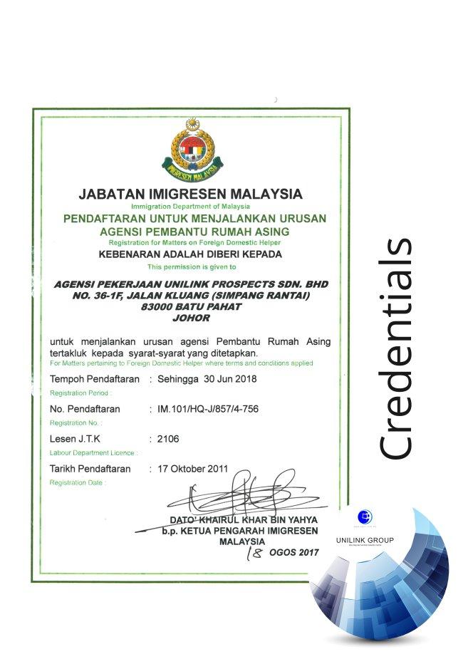 Company Profile of Agensi Pekerjaan Unilink Prospects Sdn Bhd Director Datin Sri Fun See Hoon Datin Sri Ivy Malaysia A15