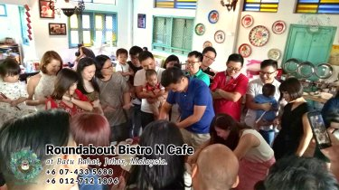 峇株巴辖自助餐龙猫特色中西餐厅 复古式建筑咖啡厅 马来西亚柔佛峇株巴辖地标交通圈小酒馆 公司聚会 Batu Pahat Roudabout Bistro N Cafe PC01-03