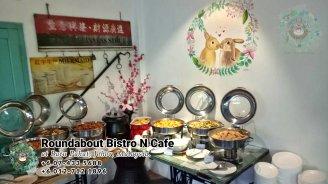 峇株巴辖自助餐龙猫特色中西餐厅 复古式建筑咖啡厅 马来西亚柔佛峇株巴辖地标交通圈小酒馆 公司聚会 Batu Pahat Roudabout Bistro N Cafe PC01-05