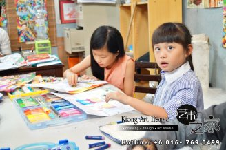 Malaysia Johor Batu Pahat Art Courses Art Studio Children Painting Wotercolour Wooden Strokes Crayon Sketching Oil Painting Advertising Painting Murals Kiong Art House A01-04