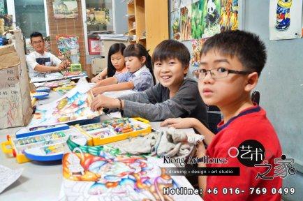 Malaysia Johor Batu Pahat Art Courses Art Studio Children Painting Wotercolour Wooden Strokes Crayon Sketching Oil Painting Advertising Painting Murals Kiong Art House A01-05