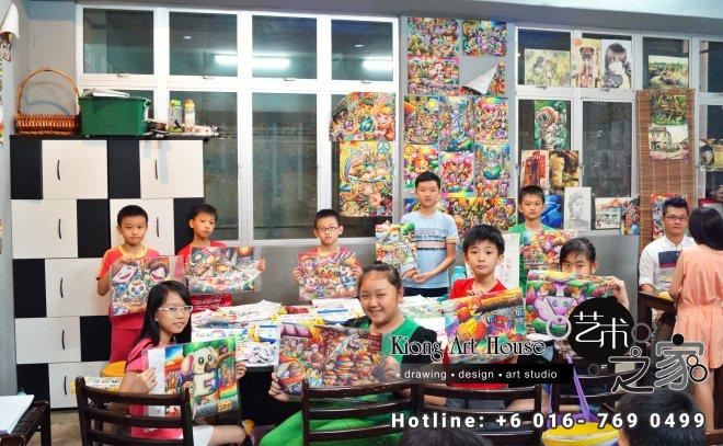Malaysia Johor Batu Pahat Art Courses Art Studio Children Painting Wotercolour Wooden Strokes Crayon Sketching Oil Painting Advertising Painting Murals Kiong Art House A01-08