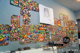 Malaysia Johor Batu Pahat Art Courses Art Studio Children Painting Wotercolour Wooden Strokes Crayon Sketching Oil Painting Advertising Painting Murals Kiong Art House A01-10
