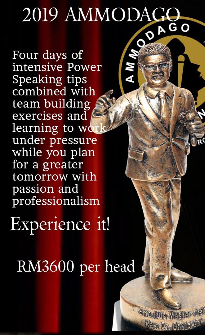 Ammodago International Workshop 2019 David Goh Develop You To Be World Class Speaker Experience The Power Within You Malaysia Selangor Kuala Lumpur Training 2019 EPA01