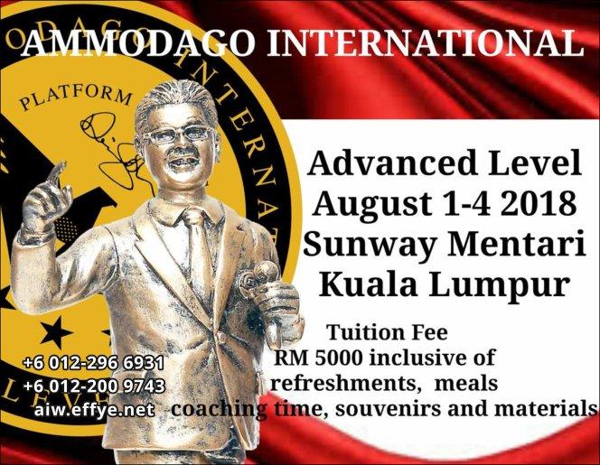 Ammodago International Workshop 2018 David Goh Develop You To Be World Class Speaker Experience The Power Within You Malaysia Selangor Kuala Lumpur Training 2018 EPA02-01