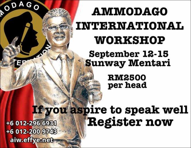 Ammodago International Workshop 2018 David Goh Develop You To Be World Class Speaker Experience The Power Within You Malaysia Selangor Kuala Lumpur Training 2018 EPA02-02