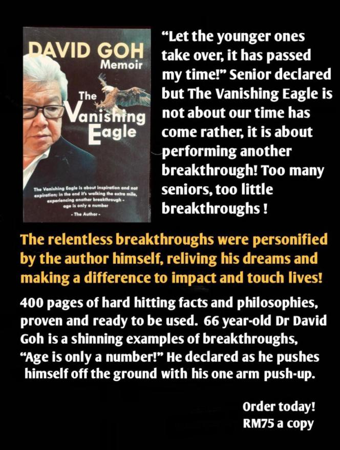David Goh Memoir - The Vanishing Eagle - David Goh Book