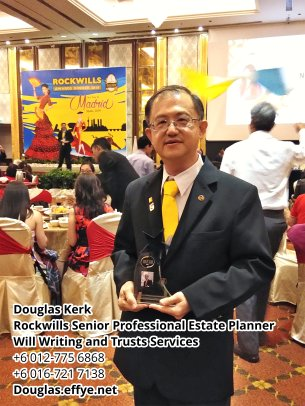 Douglas Kerk Rockwills Senior Professional Estate Planner - Will Writing and Trusts Services Batu Pahat and Kluang Johor Malaysia Property Management PA02-27