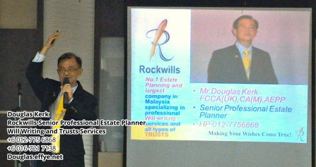 Douglas Kerk Rockwills Senior Professional Estate Planner - Will Writing and Trusts Services Batu Pahat and Kluang Johor Malaysia Property Management PA02-28