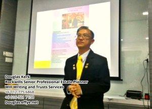 Douglas Kerk Rockwills Senior Professional Estate Planner - Will Writing and Trusts Services Batu Pahat and Kluang Johor Malaysia Property Management PA02-29
